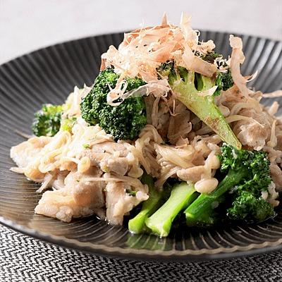 豚バラ肉とブロッコリーの簡単塩麹炒め