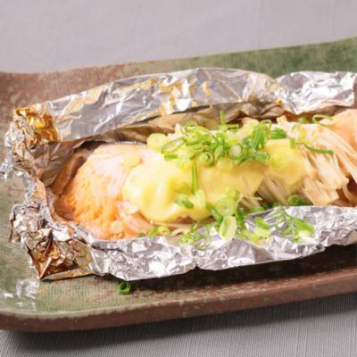 トースターで簡単 鮭ホイル焼き