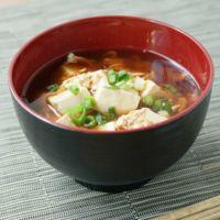 豆腐の赤だしかき卵汁
