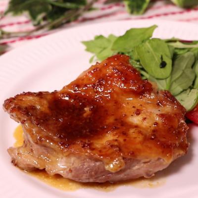 鶏もも肉のハニーマスタード