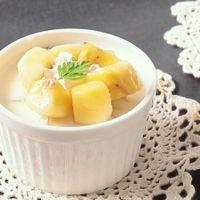 バナナの豆乳パンナコッタ