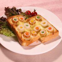 簡単かわいいちくわのお花トースト