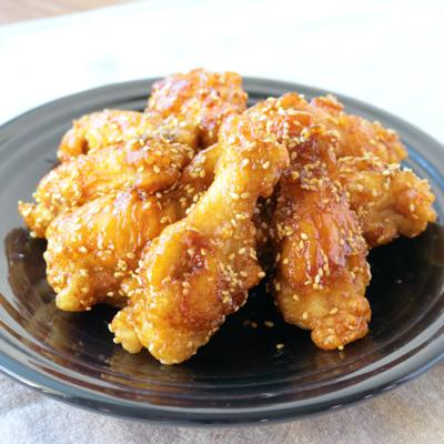 つまんで美味しい 鶏手羽元の揚げ甘辛煮