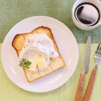 あんホイップバターで!至福の朝ごパン