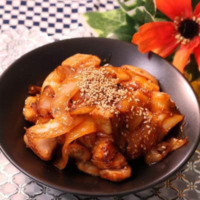 もっちり!お餅と豚バラの韓国風炒め