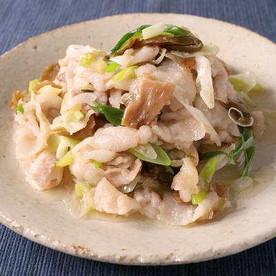 豚バラ肉とザーサイの簡単炒め
