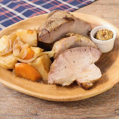 ダッチオーブンで オレンジマリネの豚肉ポットロースト