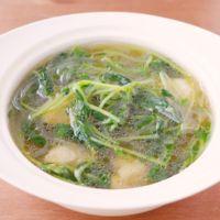 豆苗とささみの春雨スープ