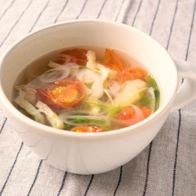 ミニトマトの和風スープ