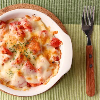 缶詰で簡単 サバのトマトグラタン