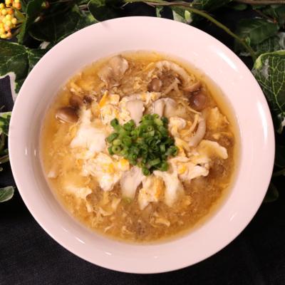 きのこと卵のほっこりスープ