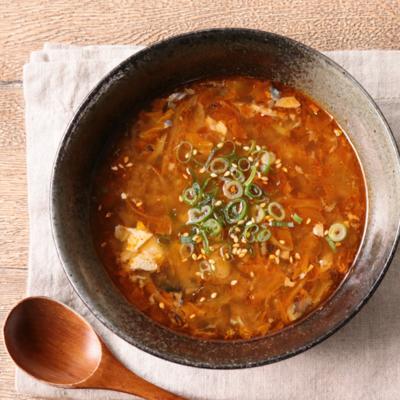 鯖の味噌煮缶入り お手軽キムチスープ