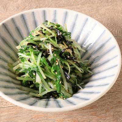 水菜と塩昆布の簡単和え物