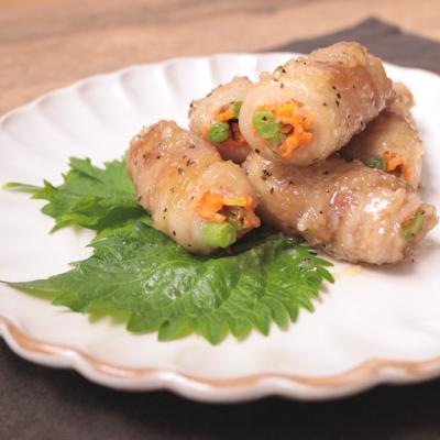 塩麹ダレで食べる 肉巻き野菜