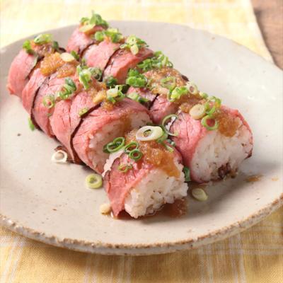 ローストビーフの華やか巻き寿司
