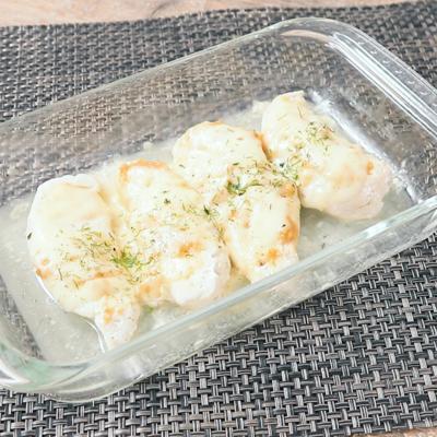 レンジだけですぐ作れる 鶏ささみの味噌チーズ
