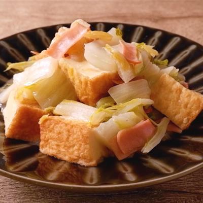 厚揚げと白菜の中華風炒め煮