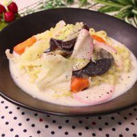 豆乳スープで肉なしヘルシー!ちゃんぽん