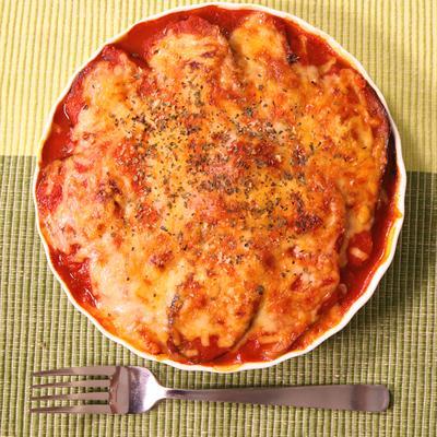 ラザニア風!ナスとトマトソースの重ね焼き