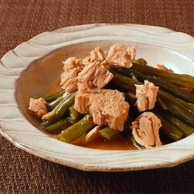 インゲンとツナのシンプルな煮物