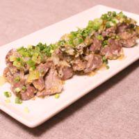 砂肝とねぎのうま塩麹炒め