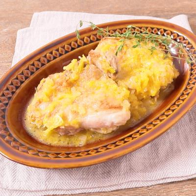 鶏もも肉のオレンジソース煮