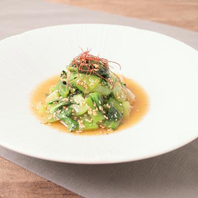 チンゲン菜のピリ辛ナムル