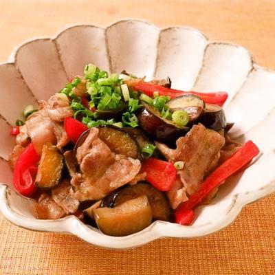 和風だし香る ナスと豚バラ肉のカレー炒め