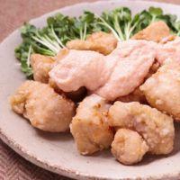 揚げ鶏の明太マヨソース