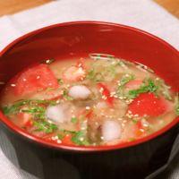 すっぱうまい!トマトの冷たい味噌汁