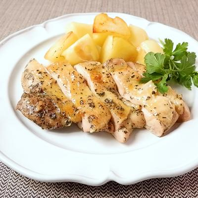 下味冷凍 鶏もも肉とじゃがいものオーブン焼き