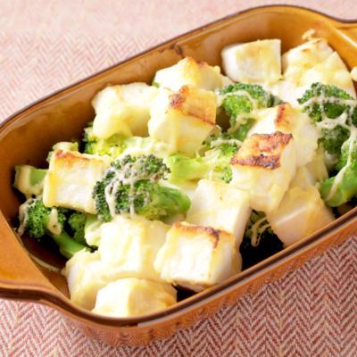 ブロッコリーとはんぺんの味噌マヨ焼き