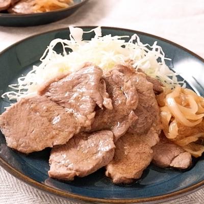 ラム肉のしょうが焼き