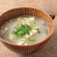 鶏ひき肉と大根の中華スープ