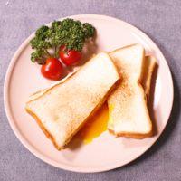 時短朝ごはん!チーズと卵のフライパンサンド