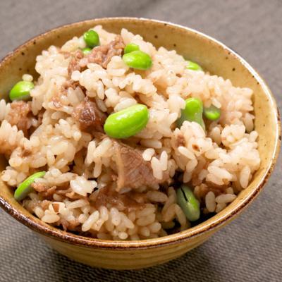 焼肉ダレで簡単 枝豆と牛肉の混ぜごはん