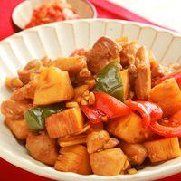 鶏もも肉とタケノコの炒め物