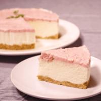 イチゴジャム入り!ヨーグルトムースケーキ