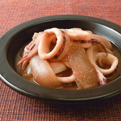 イカと玉ねぎの味噌煮