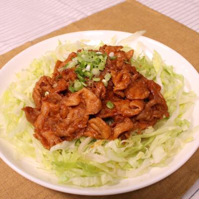 豚肉のコチュジャン生姜焼き