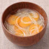 にんじんと玉ねぎの春雨スープ
