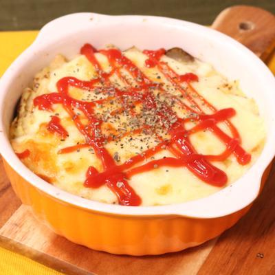ナスとマッシュポテトのチーズ焼き