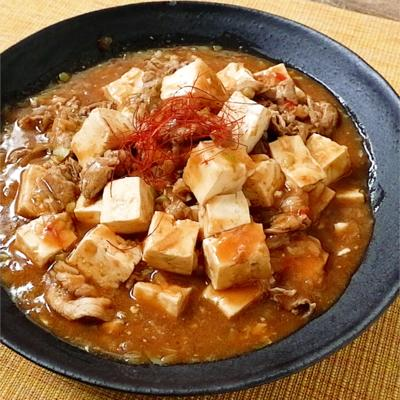 豚こまで作るボリューミー麻婆豆腐