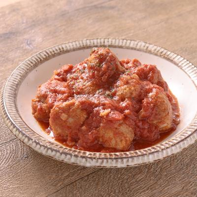 ワンパンで ミートボールのトマト煮