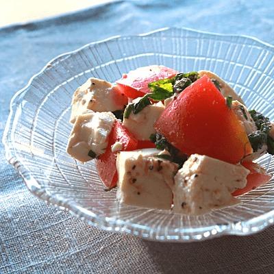 トマトたっぷりお豆腐サラダ