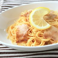 豚バラ肉とレモンのスパゲティ