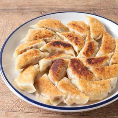 えびと干し椎茸の焼き餃子