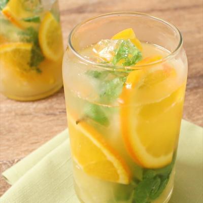 グレープフルーツとオレンジのノンアルコールモヒート
