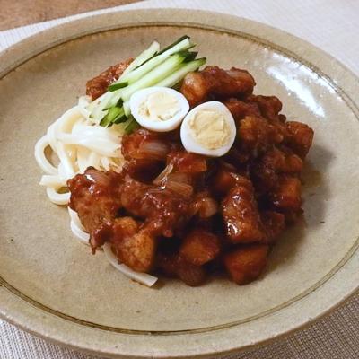 うどんでつくる チャジャン麺