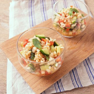 もち麦でモロッコ風サラダ